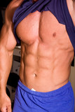 muscular abs poster