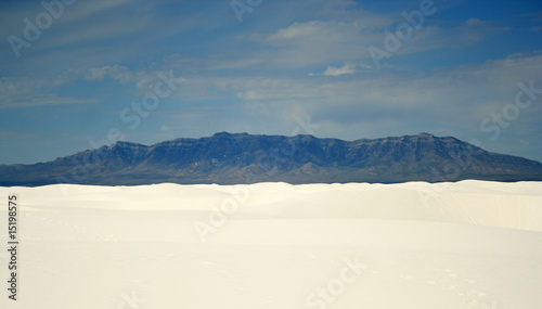 A View of the Mountains from White Sands National Monument