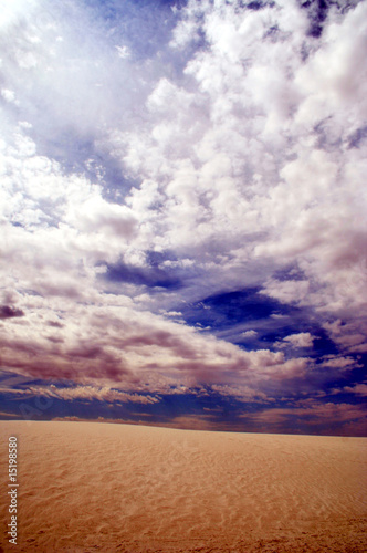A View of Sand and Sky in White Sands National Monument