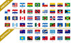 1/4 American - Australian flags