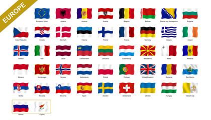 4/4 European flags