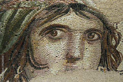 Foto op Aluminium Turkey THE GYPSY GIRL (GAIA) Ancient Mosaic
