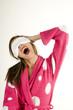 Yawning young woman
