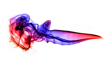 Colorful puff of abstract smoke