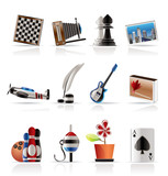 Hobby, Leisure and Holiday Icons - Vector Icon Set poster