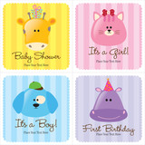 Fototapety Assorted Baby Cards Set 3