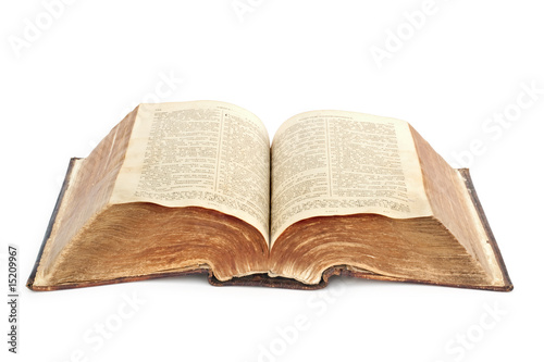 poster of religion. old Bible