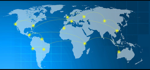 internet, collegamento, mondo