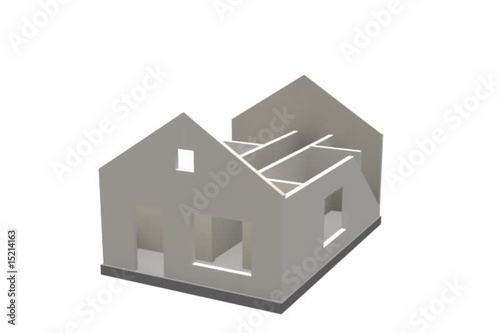 Construction of a house. Alpha channel is included