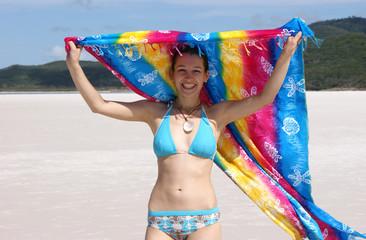 A girl on the beach - 1