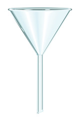 chemical glass funnel