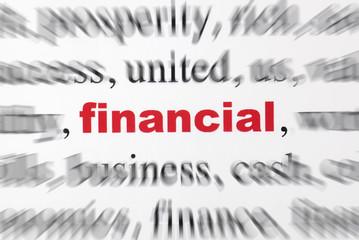 focus financial rouge flou