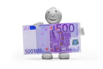 Mann Knete Geld Euro