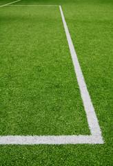 Fußballplatz Strafraum Linien