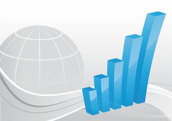 Business Hintergrund - Balkendiagramm