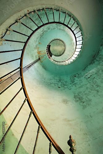 Fotobehang Vuurtoren / Mill lighthouse spiral staircase