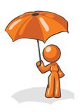 Design Mascot Woman Umbrella poster