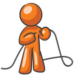 Design Mascot Tying up Loose ends poster