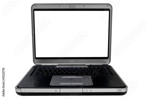 A Silver / Black Laptop