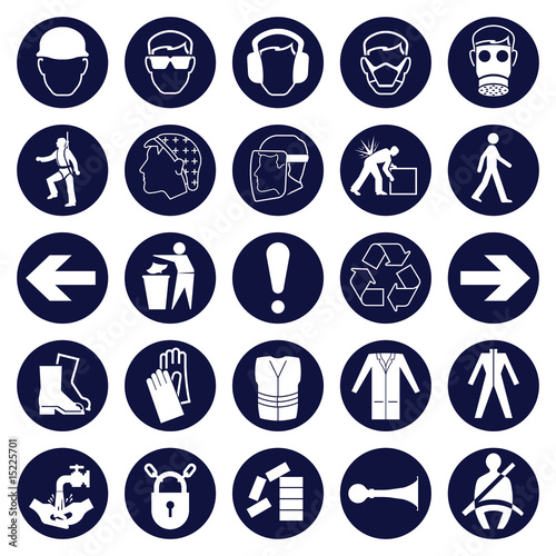 Mandatory Signage icon Collection