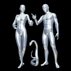 Adam und Eva silver