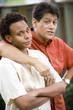 African American teenage boy with Hispanic father