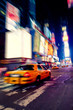 canvas print picture Taxi in Times Square