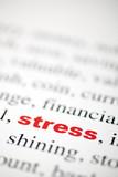 mot stress rouge texte flou poster