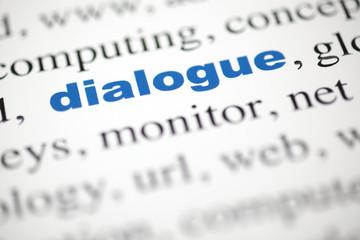 mot dialogue lettre bleu texte flou