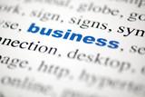 mot business  Affaire  mot bleu texte flou poster