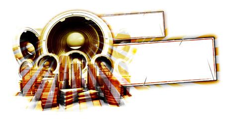 Affiche musique sepia vierge horizontal