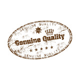 Genuine quality rubber stamp poster