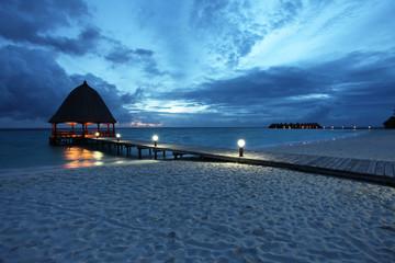 Malediven am Abend - Maldives in the evening - Angaga