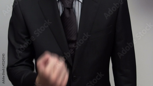 Businessman gives finger - HD