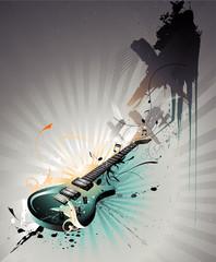 Guitar vector composition