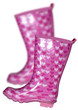Pink wellingtons boots