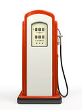 Gasoline pump isolated on white background poster