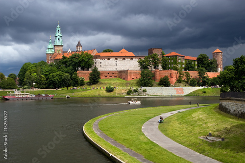 The Wawel Royal Castle and Vistula River