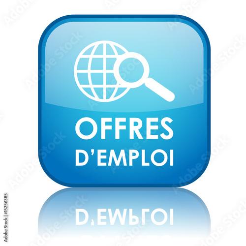 Bouton carr offres d 39 emploi bleu de treenabeena photo lib - Offre d emploi carre senart ...