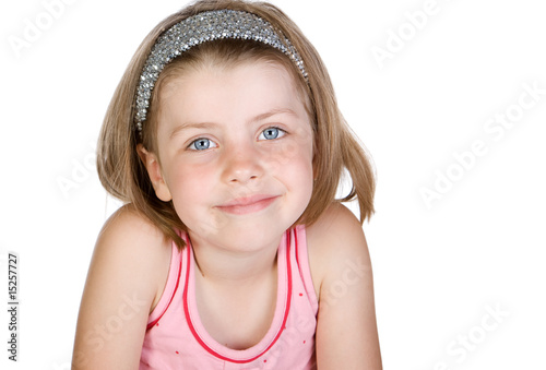 Shot of a Cute Blonde Child against White Background