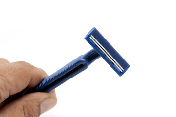 Disposable Blue Razors with Hand