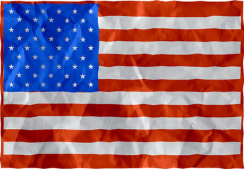 United states flag of crumpled paper
