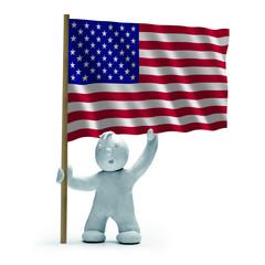 USA Flagge staunen