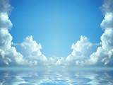 idyllic blue sky poster
