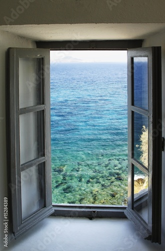 Window  & sea