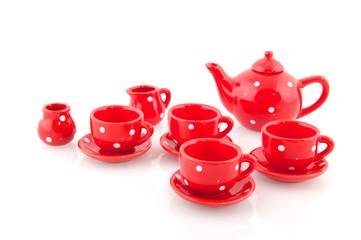 Cheerful red crockery
