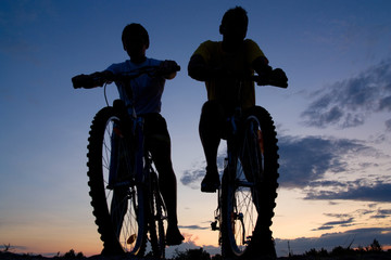 Two bicyclists