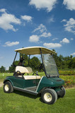 Ecological golf car poster