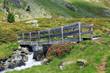 Brücke über den Bergbach - bridge crossing a mountain creek