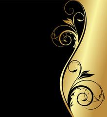 golden floral background for design